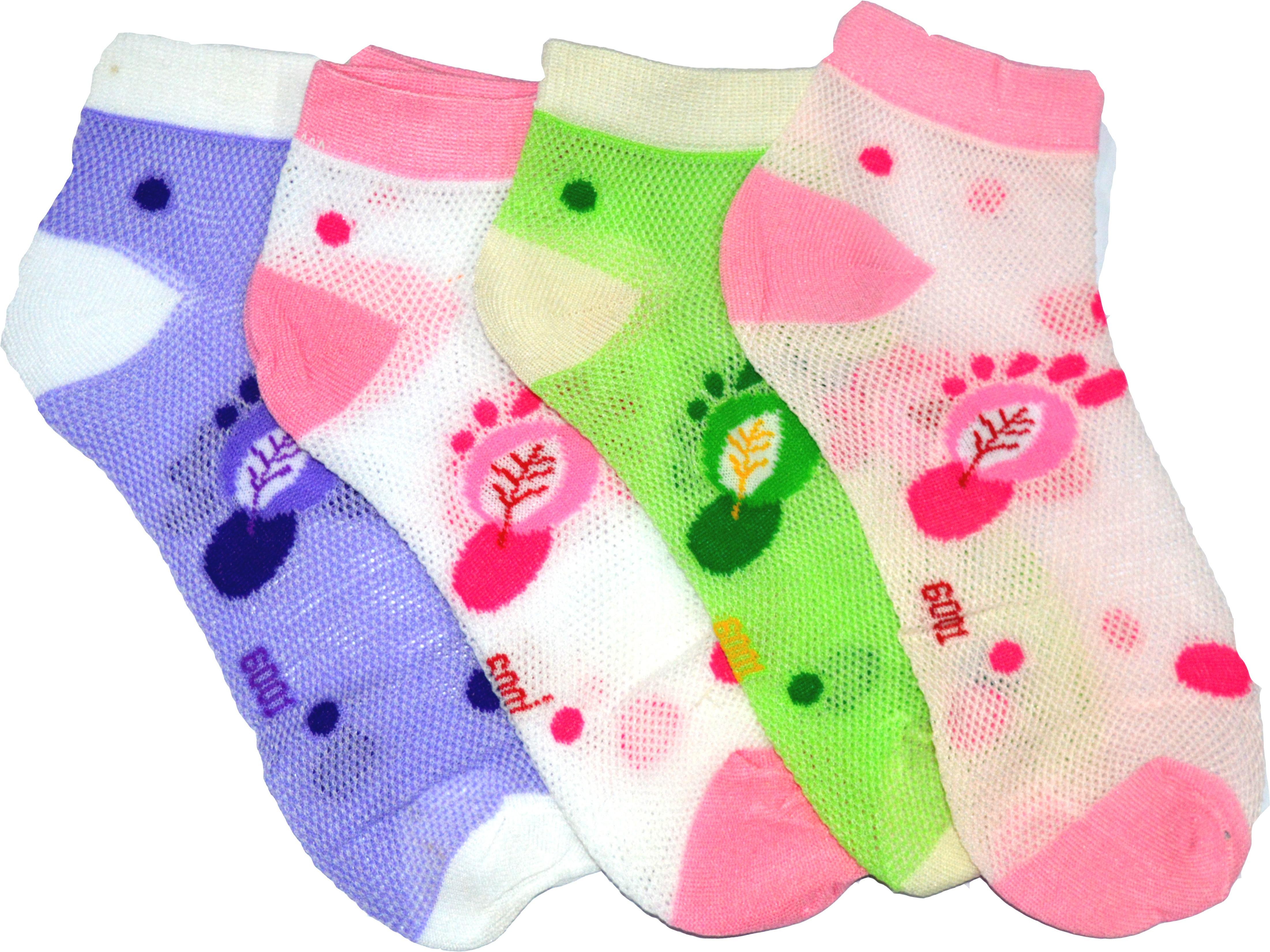 Gen Womens Printed Ankle Length Socks(Pack of 4)