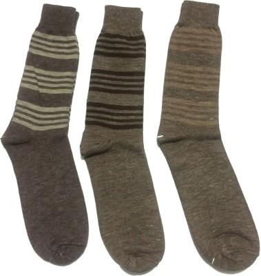 Graceway Men's Striped Crew Length Socks