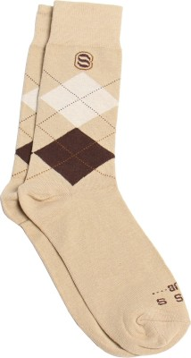 SKSS Club Men's Solid Mid-calf Length Socks