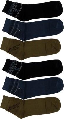 Benicia Men's Self Design Ankle Length Socks