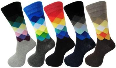 Snowbird Men's Self Design Knee Length Socks
