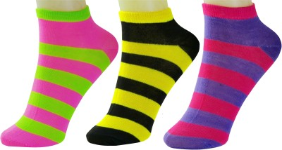 Neska Moda Women's Ankle Length Socks(Pack of 3) at flipkart