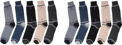 ZACHARIAS Men's Self Design Crew Length Socks
