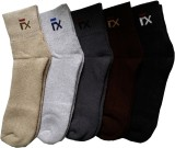 Ameno Men's Solid Ankle Length Socks