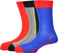 Pinellii Mens Solid Crew Length Socks(Pack of 3)