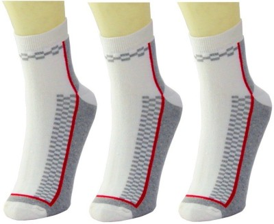 Neska Moda Men's Striped Crew Length Socks