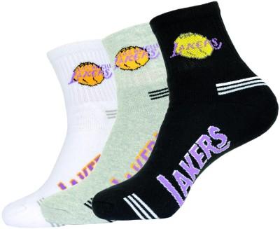 NBA Men's Solid Ankle Length Socks