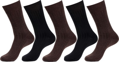 Simon Men's Striped Crew Length Socks