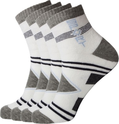 Simon Men's Self Design Ankle Length Socks