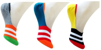Neska Moda Men's Striped No Show Socks
