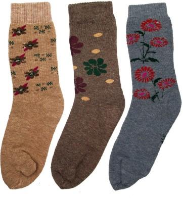V-Lon Women's Printed Crew Length Socks