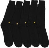 Mikado Men's Solid Crew Length Socks (Pa...