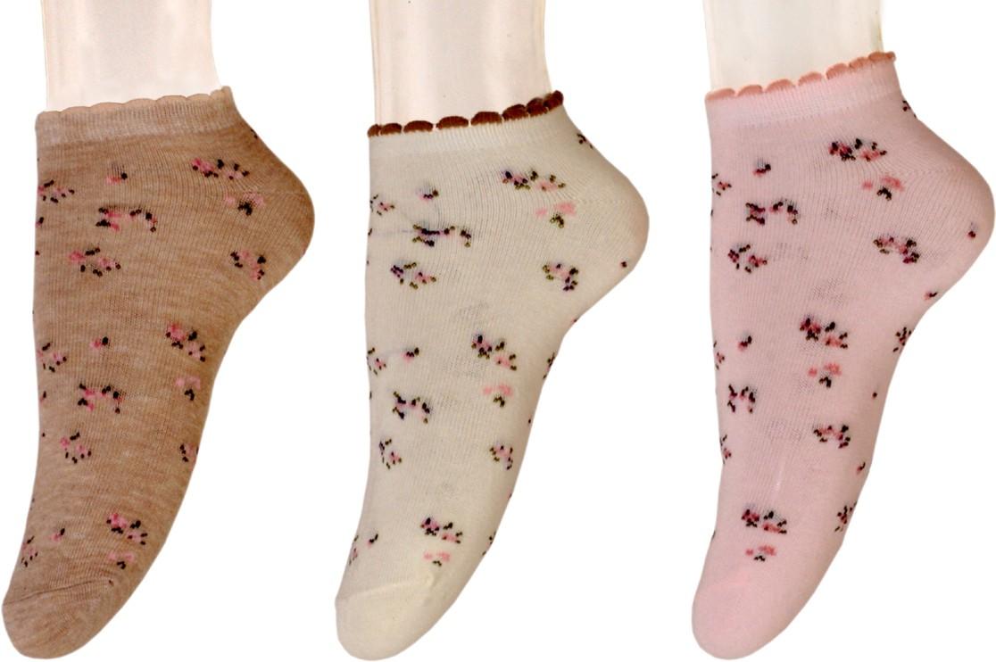 Nxt 2 Skn Womens Printed Ankle Length Socks(Pack of 3)