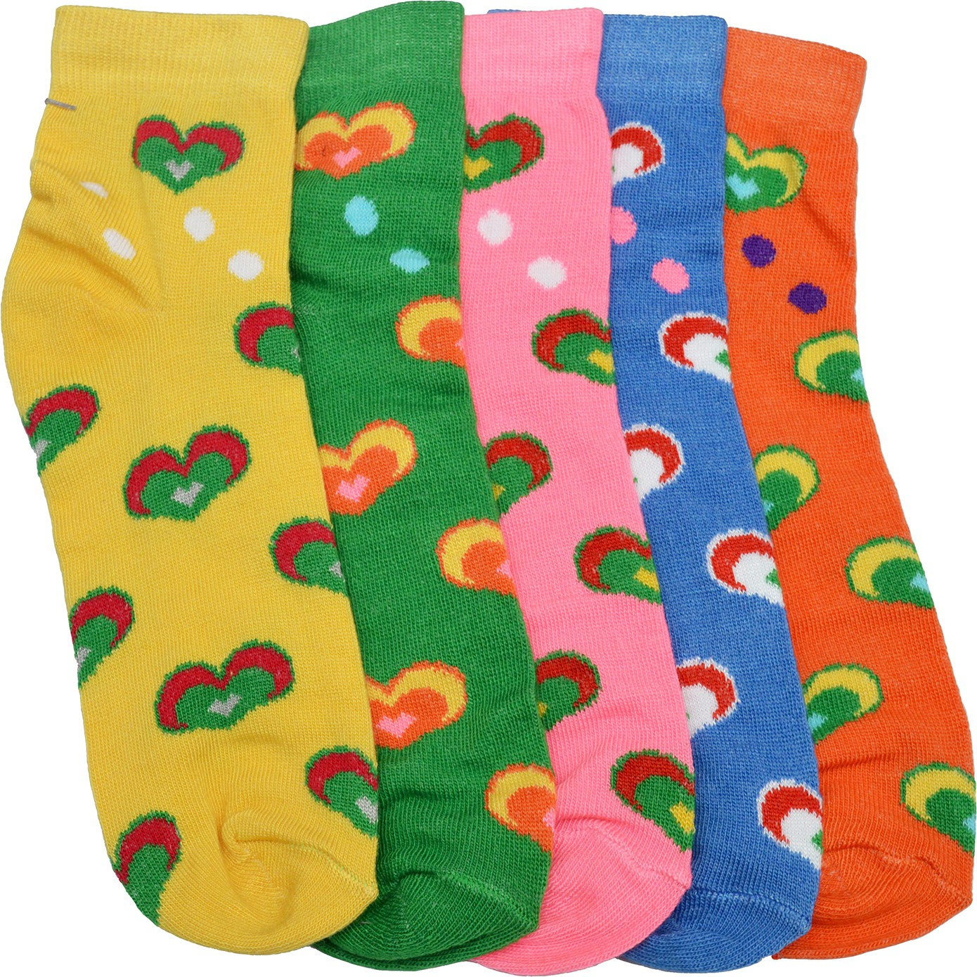 Welwear Womens Graphic Print Ankle Length Socks(Pack of 5)