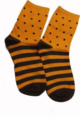69th Avenue Men's Polka Print, Striped Ankle Length Socks