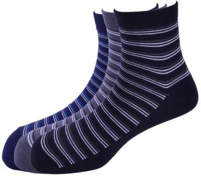 Calzini Men's Striped Crew Length Socks