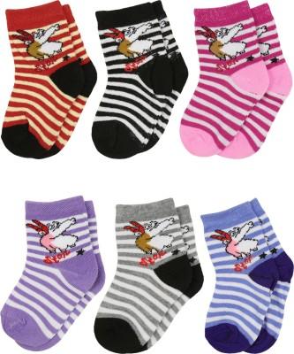 Gumber Baby Boys, Baby Girls Striped Ankle Length Socks