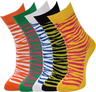Marc Women's Graphic Print Crew Length Socks at flipkart