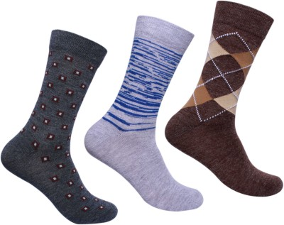 Supersox Mens Solid Mid-calf Length Socks