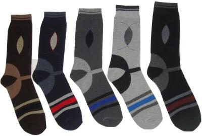 Well Wear Men,s Printed Crew Length Socks