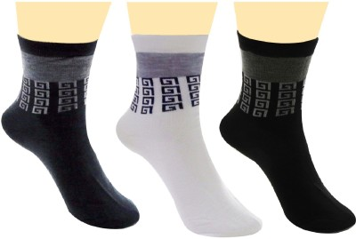Neska Moda Men's Solid Crew Length Socks