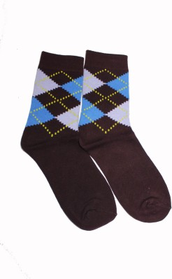 69th Avenue Men's Checkered, Solid Ankle Length Socks