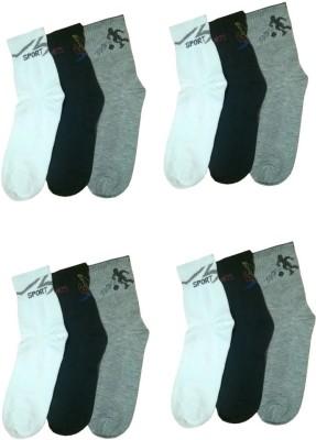 Bodysense Men's Solid Ankle Length Socks