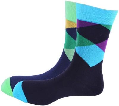 Arrow Men's Geometric Print Crew Length Socks