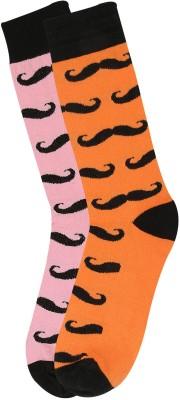 Renzer Men's Graphic Print Knee Length Socks