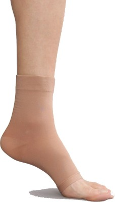 Pink Flamingo Sheer Open toe Women's Solid No Show Socks