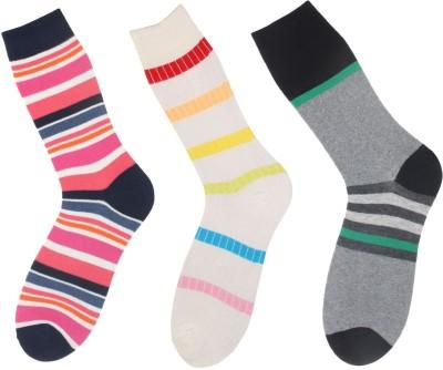Klair Men's Striped Crew Length Socks