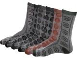 YLON Men's Floral Print Crew Length Sock...