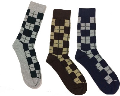 Gentle Men's Checkered Crew Length Socks
