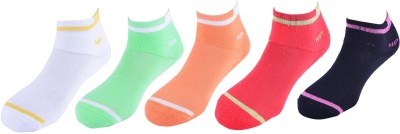 Hush Puppies Women's Solid Ankle Length Socks at flipkart