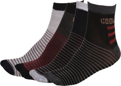 Q-tex Men's Striped Ankle Length Socks
