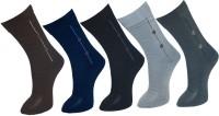 Gen Mens Graphic Print Crew Length Socks(Pack of 5)