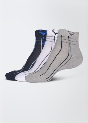Allen Solly Mens Striped Ankle Length Socks(Pack of 3)