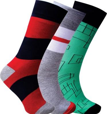 Cottstrings Men's Geometric Print Crew Length Socks