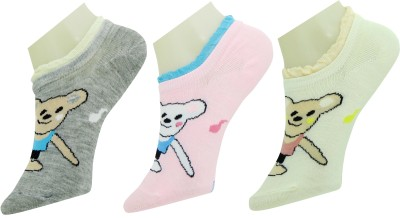 Neska Moda Women's Solid Ankle Length Socks(Pack of 3) at flipkart