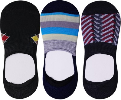 JamsSocks Men's Geometric Print Footie Socks, No Show Socks