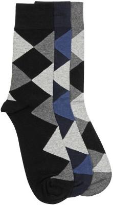 Alvaro Men's Checkered Crew Length Socks