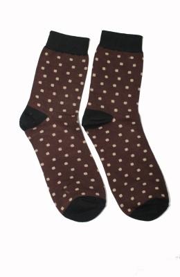 69th Avenue Men's Polka Print Mid-calf Length Socks