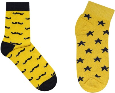 JAMSSOCKS Men's Self Design, Graphic Print Ankle Length Socks, Crew Length Socks