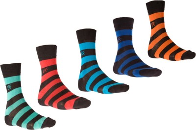 Ezzi Feet Men's Self Design Crew Length Socks