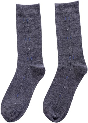 Kiosha Men's Solid Crew Length Socks