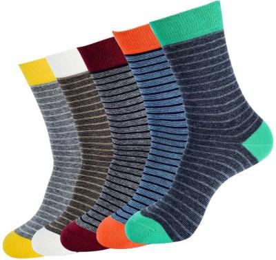 NBA Men's Striped Crew Length Socks