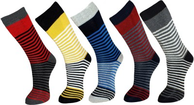 Vinenzia Men's Striped Crew Length Socks