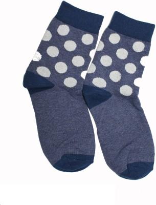 69th Avenue Men's Polka Print, Solid Ankle Length Socks