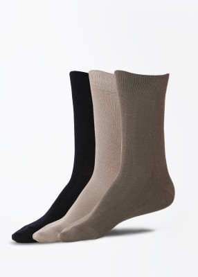 Peter England Mens Solid Mid-calf Length Socks