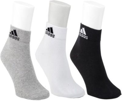 Adidas Mens Self Design Ankle Length Socks